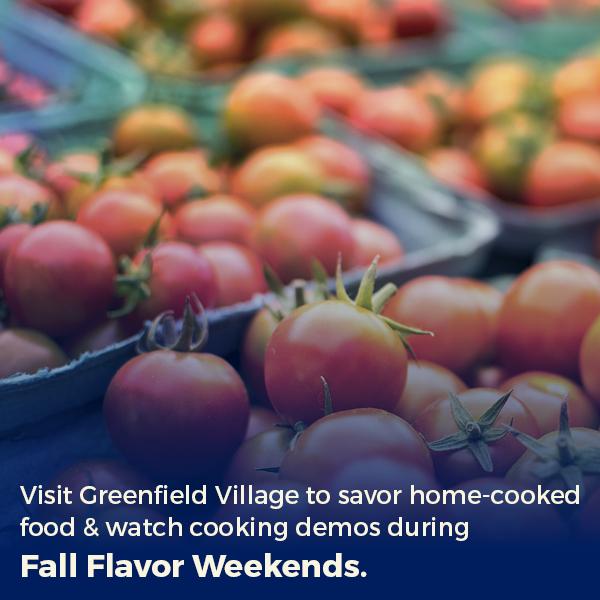 fall flavor weekends in dearborn mi