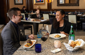 two people dining at TRIA
