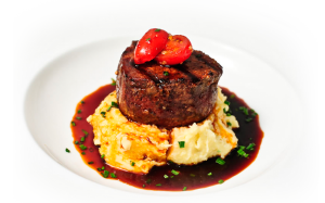 filet and mashed potatoes