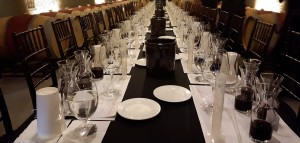 formal long table with place settings