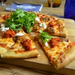 Spicy Lamb Pizza